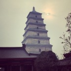 Day 4 in Xi'an: the Giant Goose Pagoda, Da Ci'en Temple and Travelling by DiDi